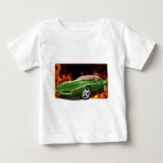 Camiseta Para Bebê 91_Green_Firehawk