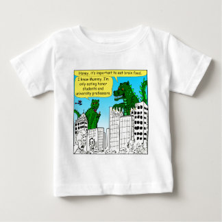 Camiseta Para Bebê 920 monstro comem estudantes da honra para a