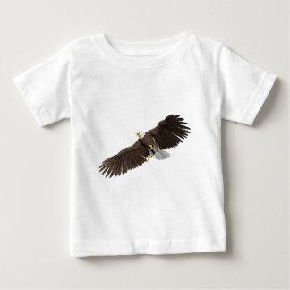 Camiseta Para Bebê A águia americana com as asas em para baixo afaga