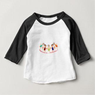 """Camiseta Para Bebê A arte gráfica com """"felicidade é… Texto dos amigos"""