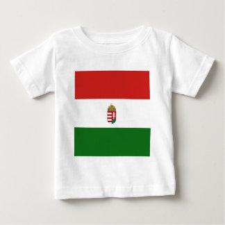 Camiseta Para Bebê A bandeira de Hungria