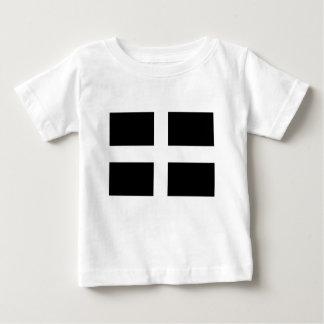 Camiseta Para Bebê A bandeira de Piran Cornish do santo - bandeira de