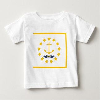 Camiseta Para Bebê A bandeira de Rhode - ilha.