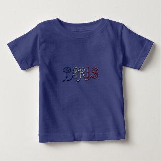 Camiseta Para Bebê A bandeira francesa de Paris France colore a