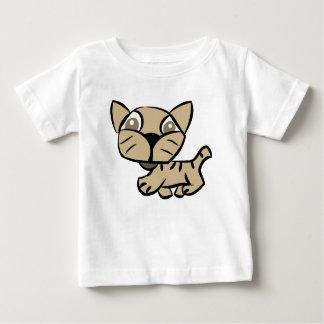 Camiseta Para Bebê A caminhada de gato