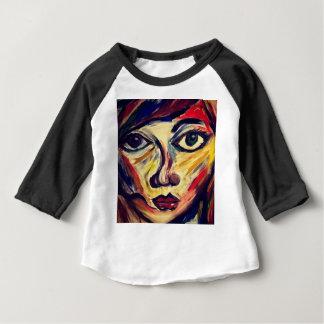 Camiseta Para Bebê A cara da mulher abstrata