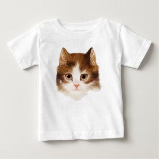 Camiseta Para Bebê A cara do gatinho caçoa o t-shirt 2