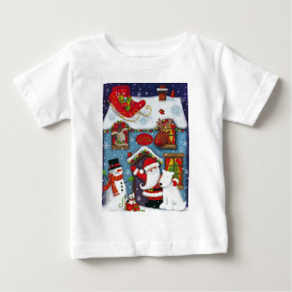 Camiseta Para Bebê A casa do papai noel