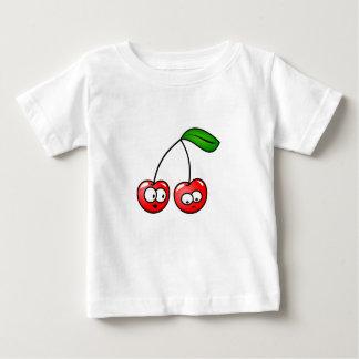 Camiseta Para Bebê A cereja do bebê veste cores do divertimento do