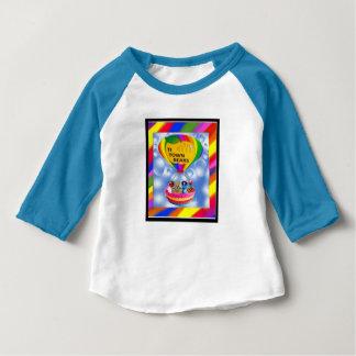 Camiseta Para Bebê A cidade do TI carrega o t-shirt, sleve longo azul