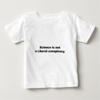 Camiseta Para Bebê A ciência não é uma conspiração liberal