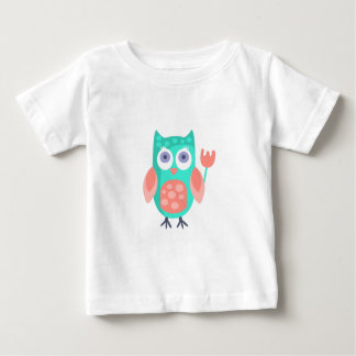 Camiseta Para Bebê A coruja com partido atribui Funky estilizado