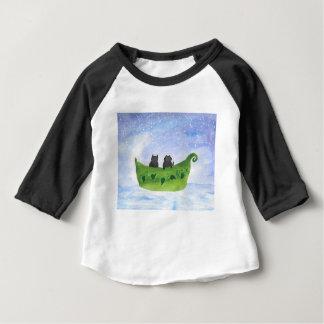 Camiseta Para Bebê A coruja e o gatinho