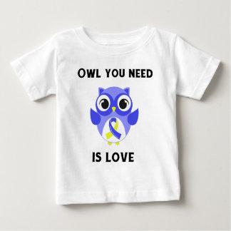 Camiseta Para Bebê A coruja que você precisa é amor, consciência de