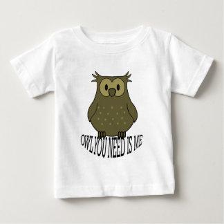 Camiseta Para Bebê a coruja que você precisa é mim