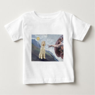 Camiseta Para Bebê A criação do deus do Spinone italiano