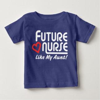 Camiseta Para Bebê A enfermeira futura gosta de minha tia
