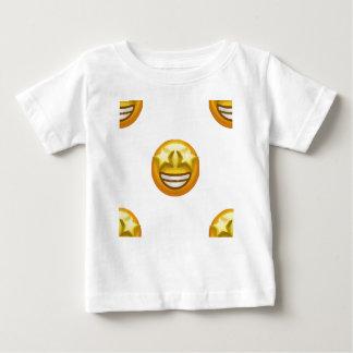 Camiseta Para Bebê a estrela eyes o emoji