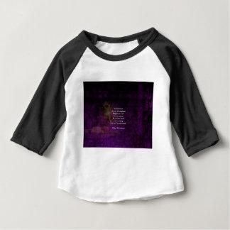 Camiseta Para Bebê A felicidade é a chave às citações Uplifting do