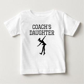 Camiseta Para Bebê A filha do treinador do patinagem artística