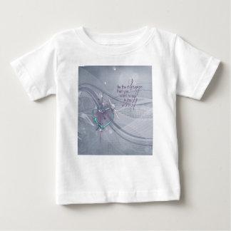 Camiseta Para Bebê A fita do coração do Aqua, diploma, jóias, seja a