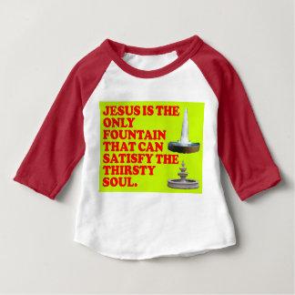 Camiseta Para Bebê A fonte que pode satisfazer a alma sedento