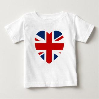 Camiseta Para Bebê A forma do coração da bandeira de Union Jack