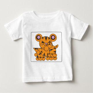 Camiseta Para Bebê A forma fez o tigre