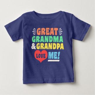 Camiseta Para Bebê A grandes avó e vovô do excelente amam-me