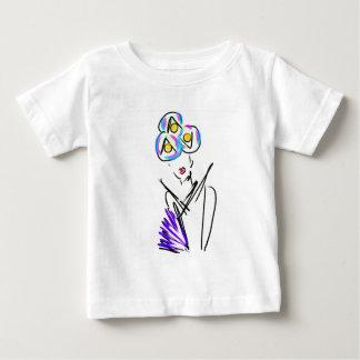 Camiseta Para Bebê A ilustração da forma do visitante