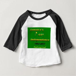 Camiseta Para Bebê A independência de Jamaica 55th (verde)