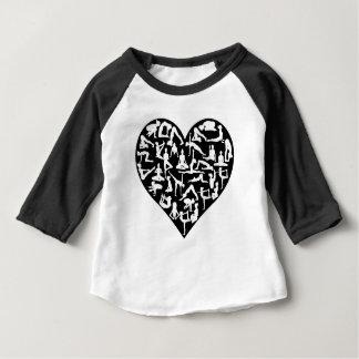 Camiseta Para Bebê A ioga do amor levanta o coração das silhuetas
