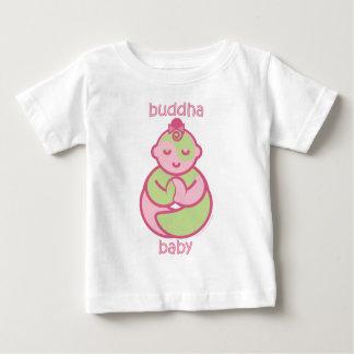 Camiseta Para Bebê A ioga fala o bebê: Bebê cor-de-rosa de Buddha