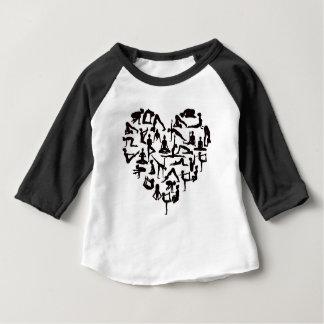 Camiseta Para Bebê A ioga levanta o coração das silhuetas