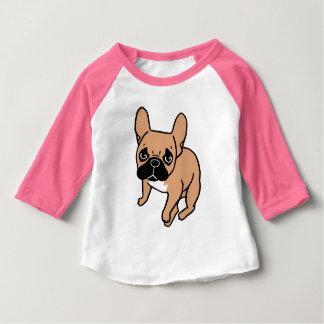 Camiseta Para Bebê A jovem corça preta bonito Frenchie da máscara