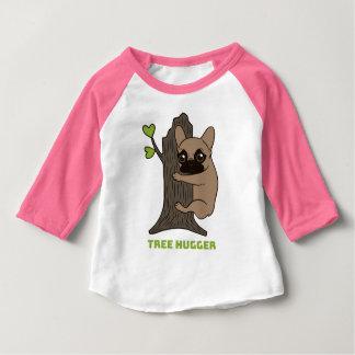 Camiseta Para Bebê A jovem corça preta Frenchie da máscara é um