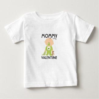 Camiseta Para Bebê A mamãe é meu Tshirt dos miúdos da data dos