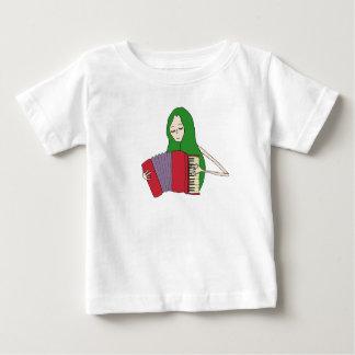 Camiseta Para Bebê A menina joga o t-shirt do acordeão para bebês