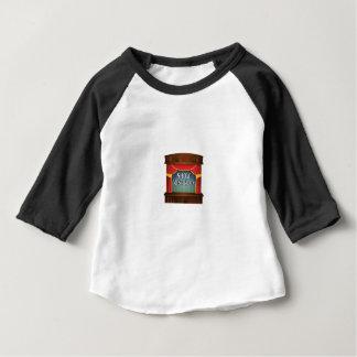 Camiseta Para Bebê a mostra deve ir sobre