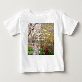 Camiseta Para Bebê A mudança das estações renova minha alma