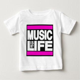 Camiseta Para Bebê A música é meu rosa da vida