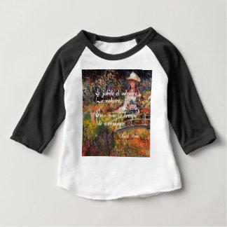 Camiseta Para Bebê A natureza no art. de Monet