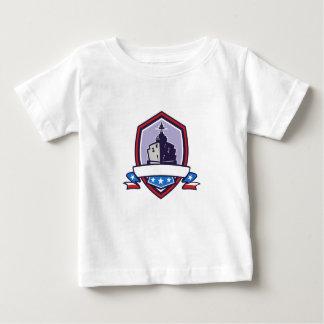 Camiseta Para Bebê A navio de guerra Stars a crista das listras retro