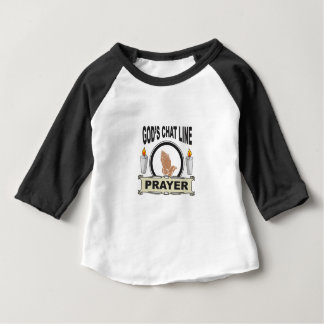 Camiseta Para Bebê a oração é linha do bate-papo dos deuses