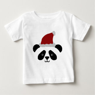 Camiseta Para Bebê A panda do papai noel caçoa o Tshirt