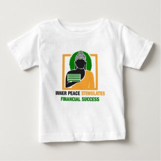 Camiseta Para Bebê A paz interna estimula o sucesso financeiro