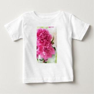 Camiseta Para Bebê A peônia floresce o esboço do Fim-acima
