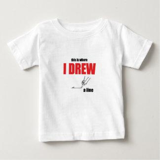 Camiseta Para Bebê a piada que toma a linha demasiado distante memes