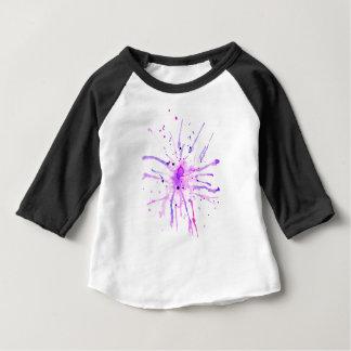 Camiseta Para Bebê A pintura do Grunge Splatters o roxo