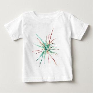 Camiseta Para Bebê A pintura do Grunge Splatters o verde